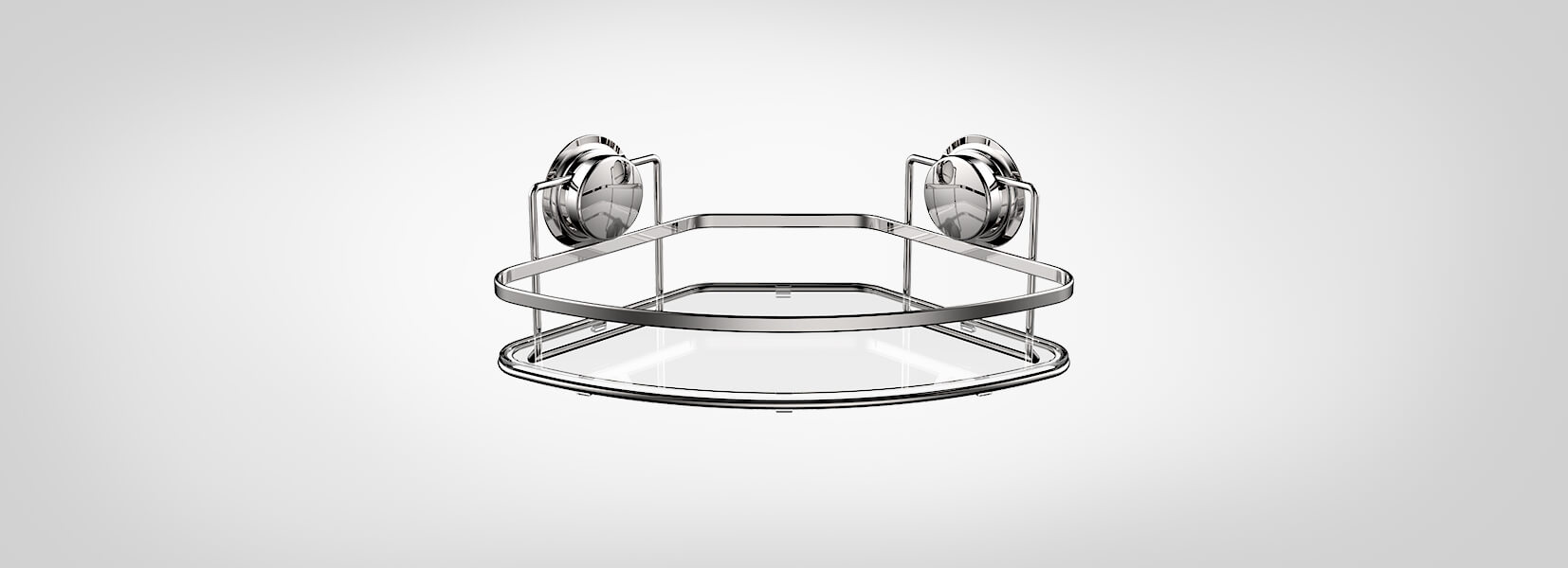 Chrome-corner-basket-with-suction-cup